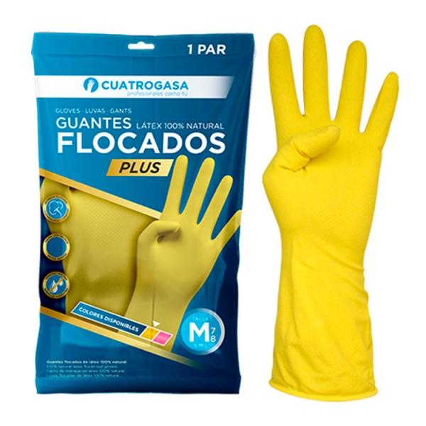 cuatrogasa-guante-flocado-amarillo-latex-plus