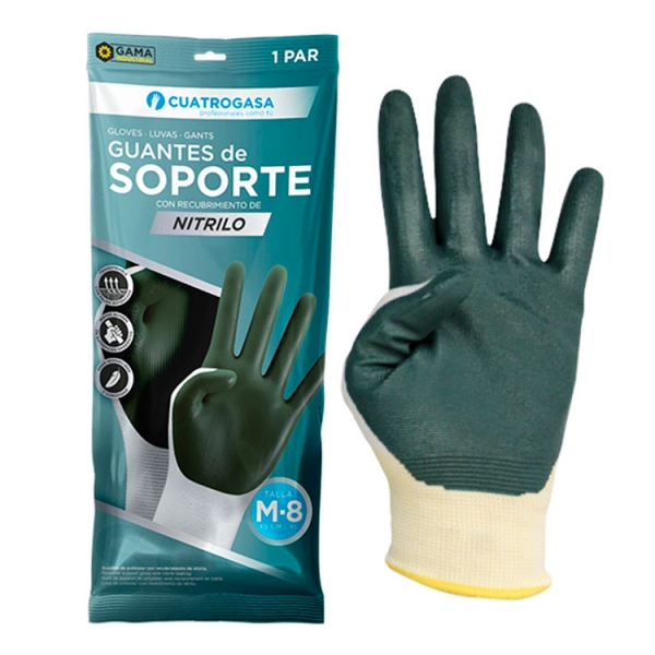 guante-soporte-cuatrogasa-verde-nitrilo-pack